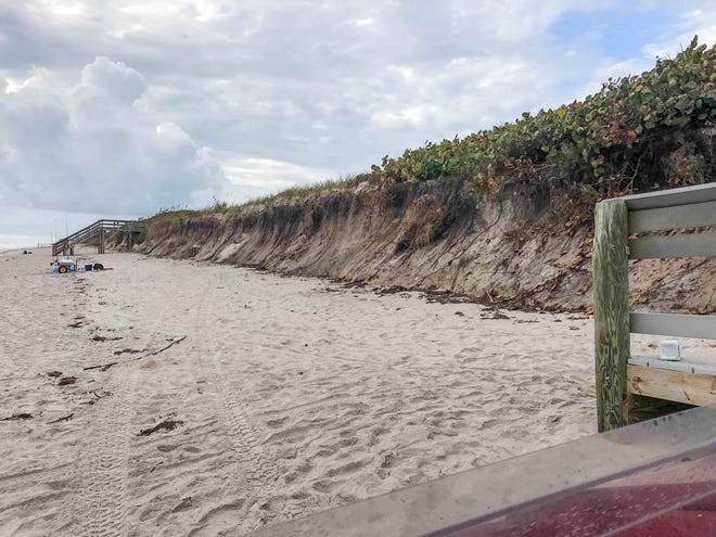 Brevard County commissioners approved a $2.26 million project to shore up the south beaches dunes area, including this area near Juan Ponce de Leon Landing.
