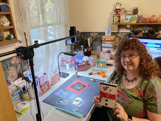 Maria Johnson grew up making crafts with her family. Now, she hopes to inspire others to find a hobby they're passionate about and to show that crafting is easy and accessible.