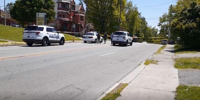 Scene near the fatal crash on May 9, 2020 on Elberon Avenue in East Price Hill.