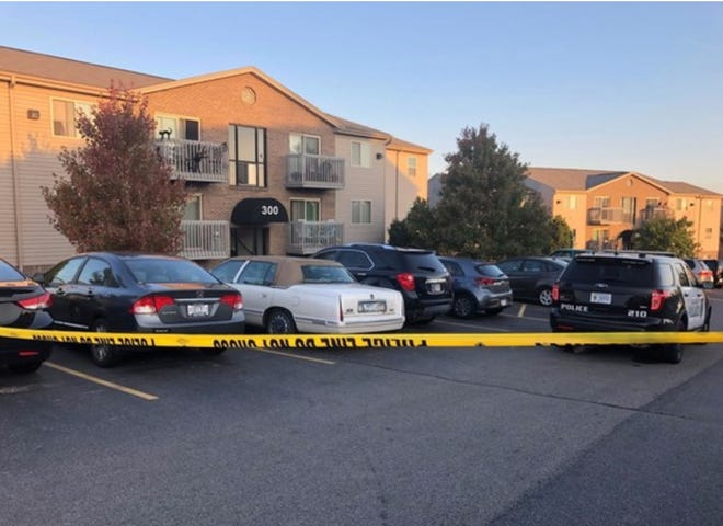 Police say a woman found dead in her Summit Pointe apartment and a man shot at the apartment complex by a police officer Saturday in Lawrenceburg knew each other.