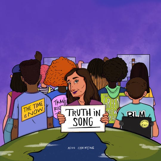 "The cover of ""Truth in Song,"" the new single from Miss Christine, being released on Friday, Oct. 30, 2020."