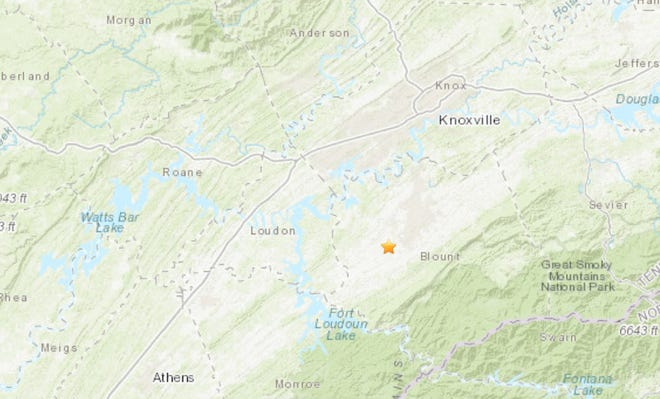 A magnitude 2.3 earthquake was reported in Blount County Sunday afternoon, according to the United States Geological Survey.