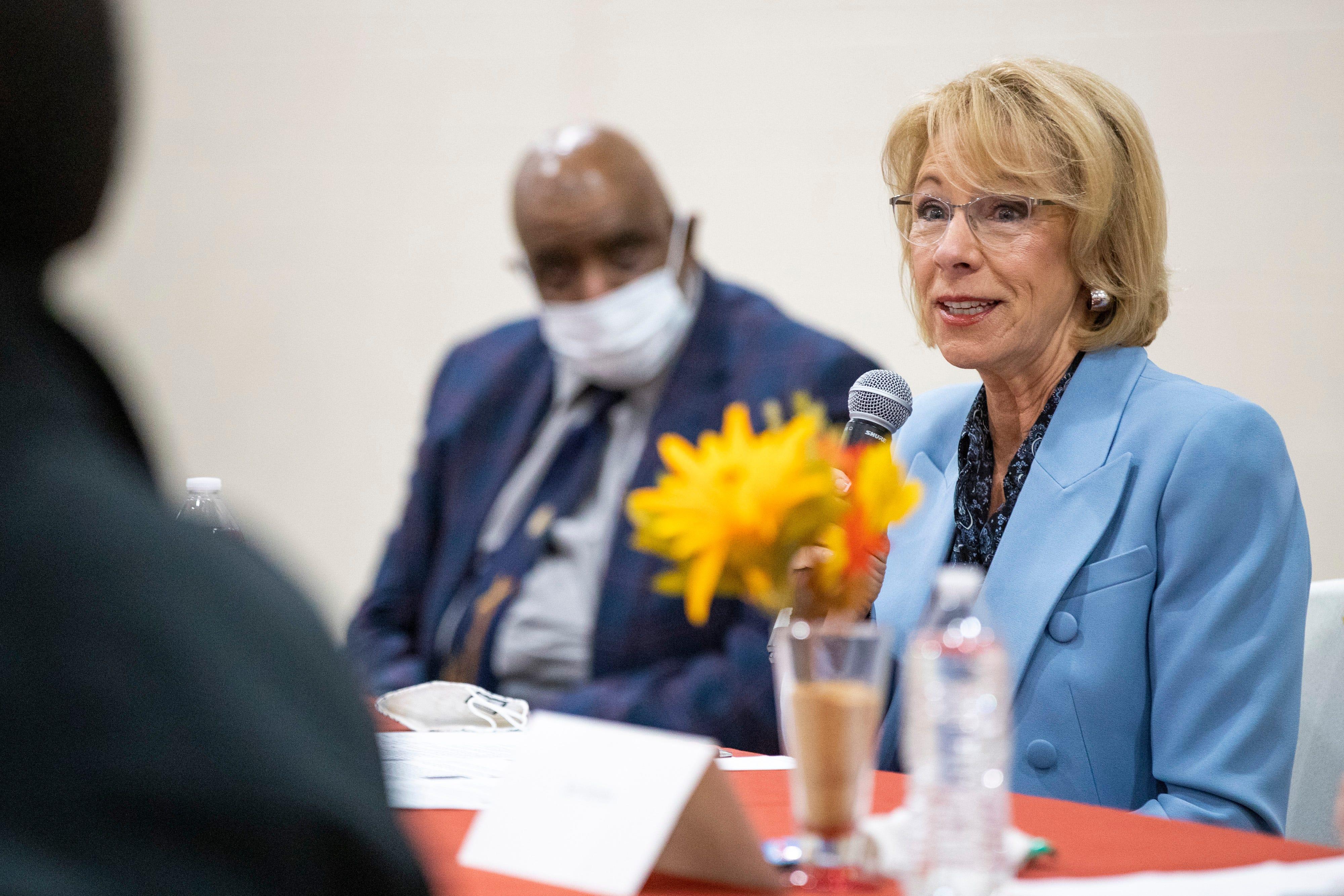 Education Secretary Betsy DeVos discusses school choice, COVID-19 during Louisville visit