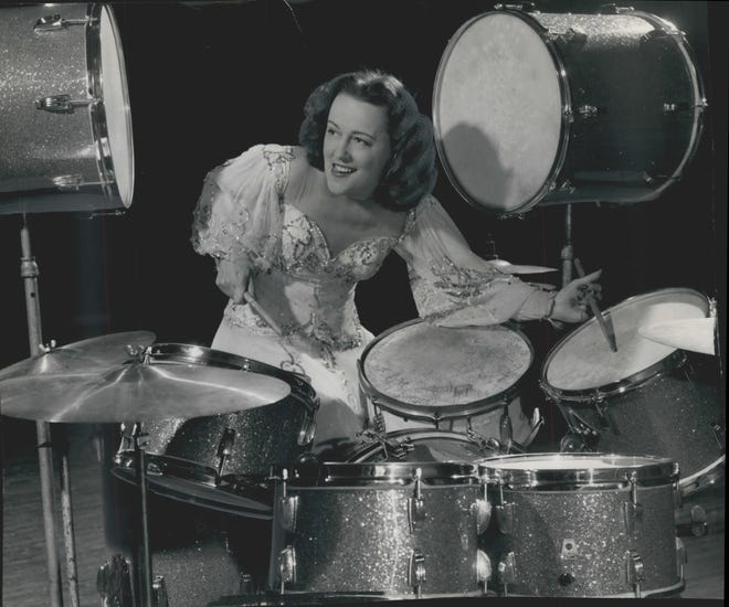 "Viola Smith, one of the world's first female drummers, pictured here in 1948, died Oct. 21 in Costa Mesa, Calif., one month before her 108th birthday. Smith got her start in the late '20s playing in her family band, the Schmitz Sisters Family Orchestra, with five older sisters, and in the 1930s was billed as the ""world's fastest girl drummer."" She played drums alongside Billie Holiday, in the 1945 film ""Here Come the Co-Eds,"" on ""The Ed Sullivan Show"" and at President Harry Truman's inauguration in 1949. She told Tom Tom magazine the highlight of her music career was playing in the Kit Kat Band in the original Broadway production of ""Cabaret"" in 1966."