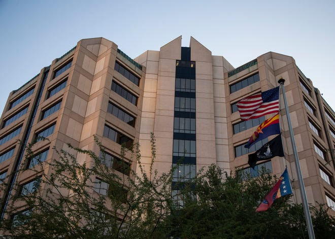 """The notice of claim against Maricopa County's Attorney Office names 11 defendants, including Maricopa County Attorney Allister Adel, alleging that the protesters were """"wrongfully indicted and maliciously prosecuted"""" for involvement in demonstrations on July 18, Aug. 9, Oct. 3 and Oct. 17."""