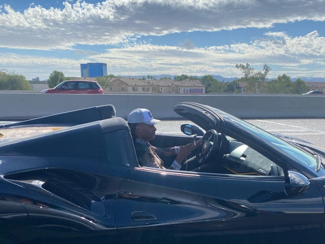 People driving in a caravan supporting President Donald Trump say a man who appeared to be Arizona Cardinals player DeAndre Hopkins was swerving through traffic and flipped them off on Sunday, Oct. 25, 2020.