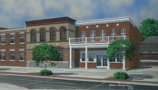 A rendering shows a proposed new building at 1110 Military St., which would feature a marijuana provisioning center. The plans are on the Nov. 3 agenda for Port Huron's Historic District Commission.