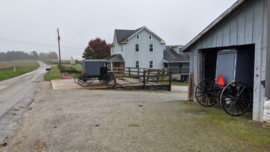 An Amish farm on Pine Grove Road near Airville October 26, 2020.