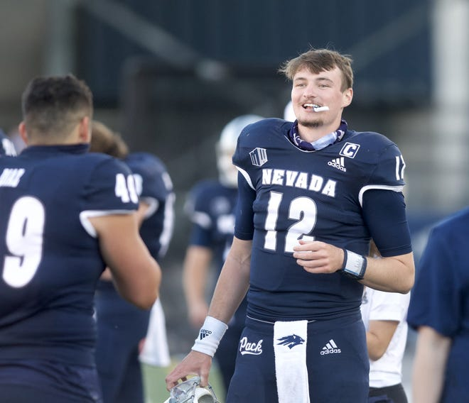 Nevada quarterback Carson Strong has a 17-to-1 TD-interception ratio over the last full year.