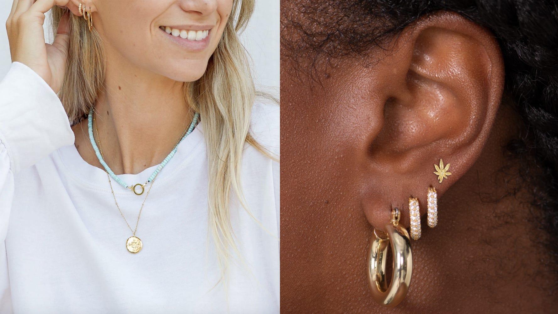 Beautiful earrings Earrings Vintage earrings Vintage jewelry Yellow and brown roses earrings Vintage roses earrings Elegant earrings