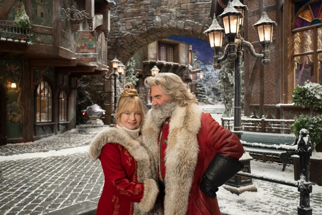 """The Christmas Chronicles 2"" starring Kurt Russell and Goldie Hawn (Nov. 25 on Netflix)."