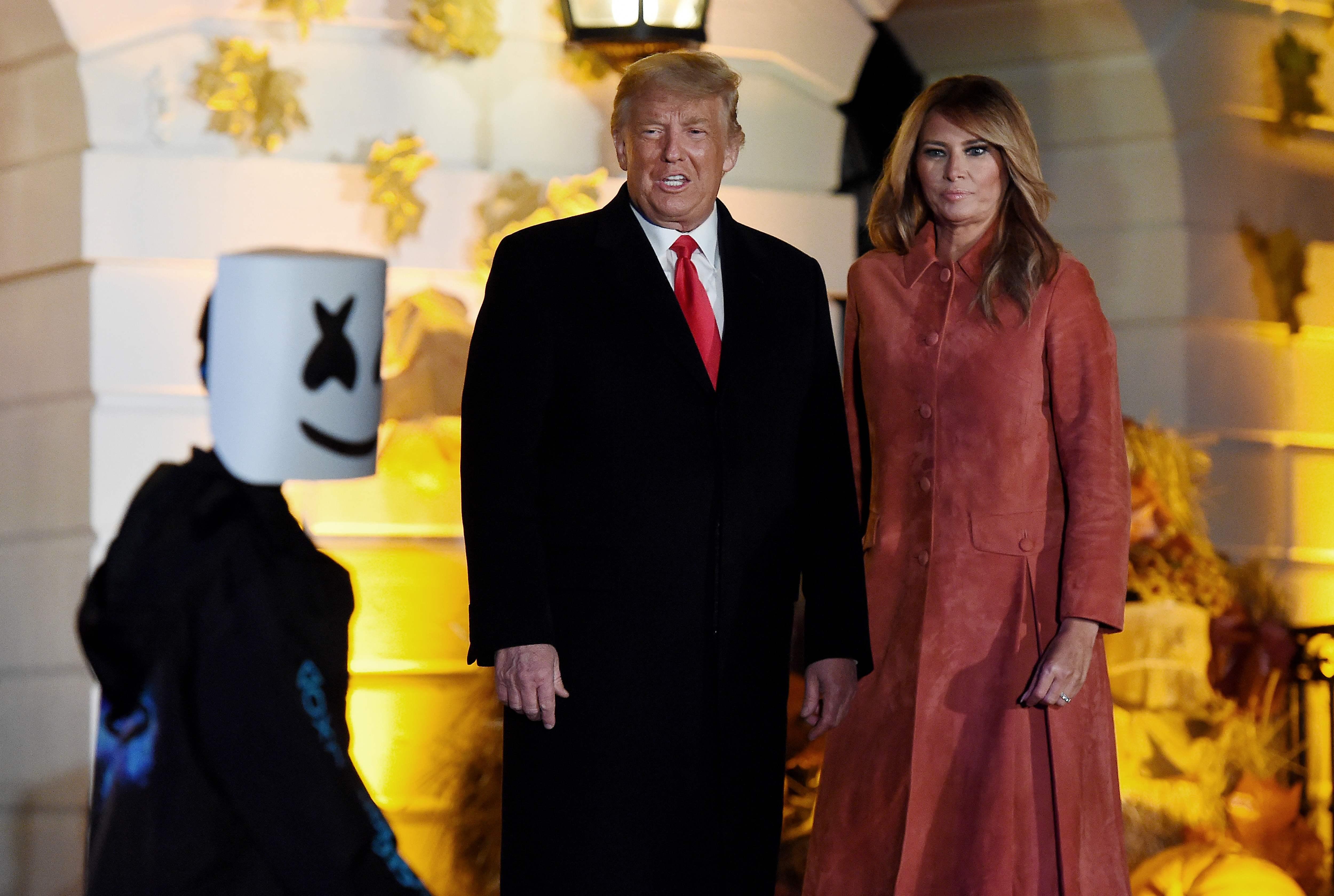 Melania Trump, president host hundreds at socially distant Halloween celebration