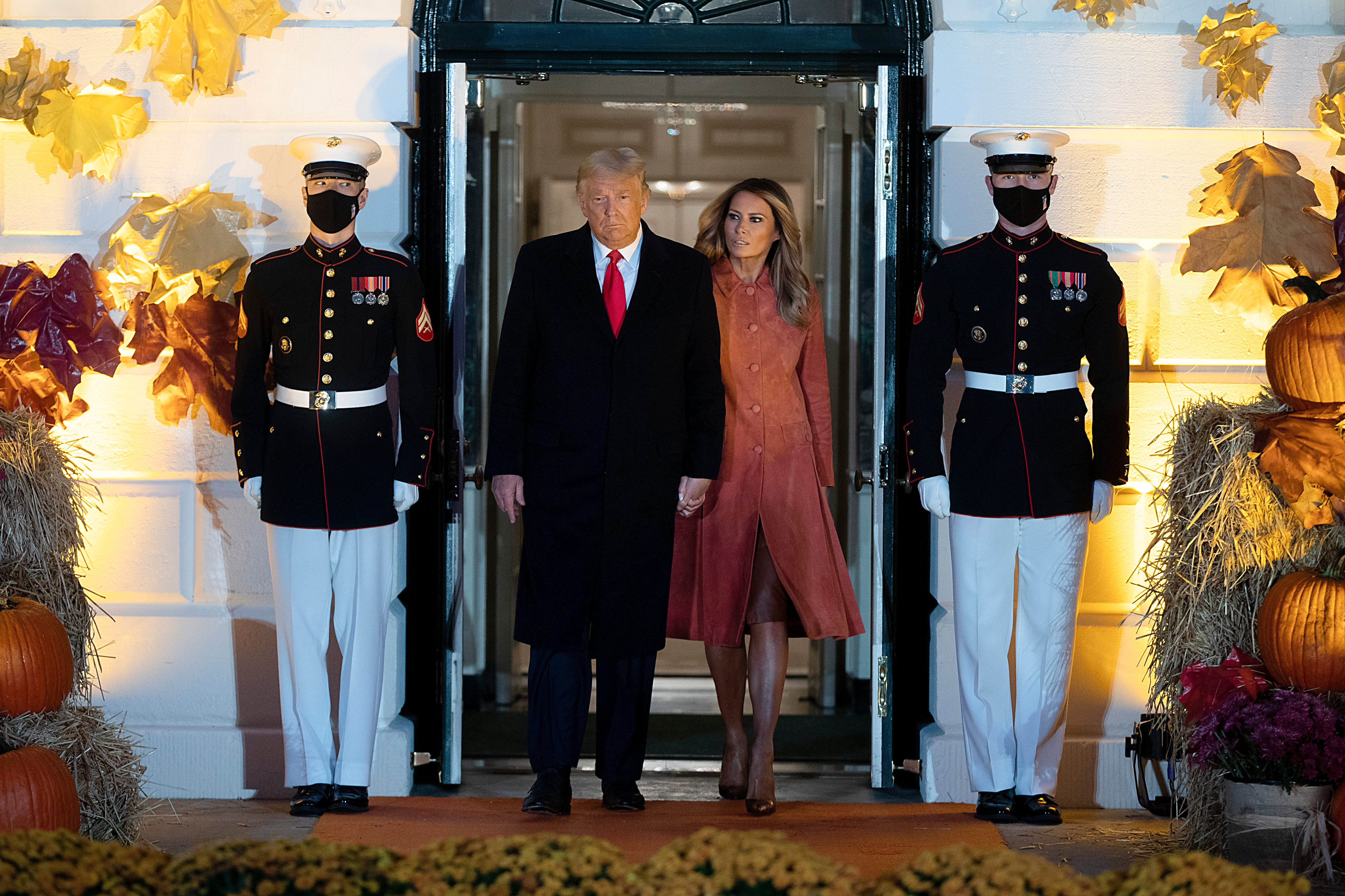Halloween 2020: Trumps host socially distant trick-or-treating
