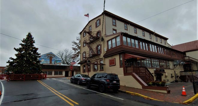 The King George II inn as seen from the wharf on the Delaware River in Bristol.