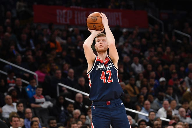 Washington Wizards forward Davis Bertans launches a long jumper on the way to shooting .424 from 3-point range last season.