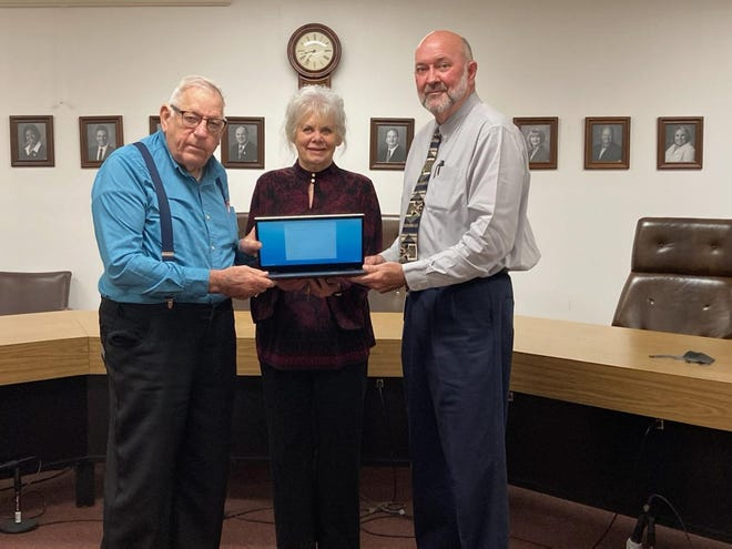 Pictured left to right are James Eaves, Sr, BCAA Board President, Winkie Branch, BCAA Executive Director, and Tim Cooley, Beauregard Parish School Board President.
