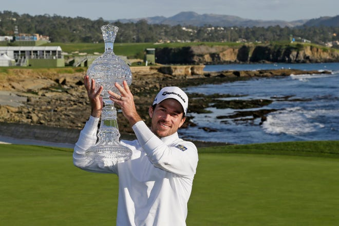 Nick Taylor, of Canada, earned his first trip to the Masters tournament in February when he won the AT&T Pebble Beach National Pro-Am golf tournament February in California. But Taylor will miss out on the roars without spectators. [Eric Risberg/The Associated Press file]