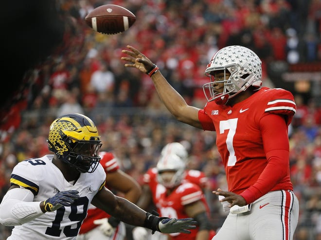 Quarterback Dwayne Haskins Jr. led Ohio State to a 62-39 win over the Michigan Wolverines at Ohio Stadium in Columbus on Nov. 24, 2018.
