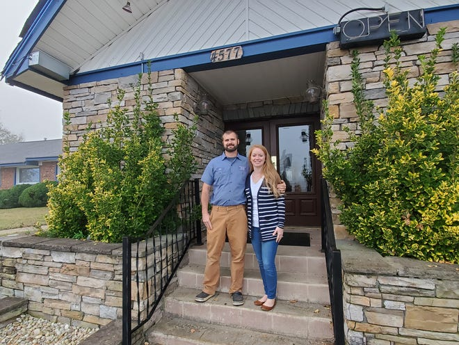 Kyle and Megan Freedle have purchased the former Stone Creek Seafood restaurant in Reedy Creek on NC Highway 150 so they can house their Freedle Plumbing business office, warehouse and technician staffs under one roof. The restaurant and the land the building sits on used to be Freedle family property and originally housed a seafood restaurant that a family member-owned and operated. Renovations will take several months.