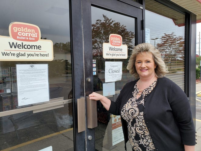 Tammie Sanders said she is saddened that Golden Corral restaurant, where she worked for 42 years in Lexington, is closing its doors for good.