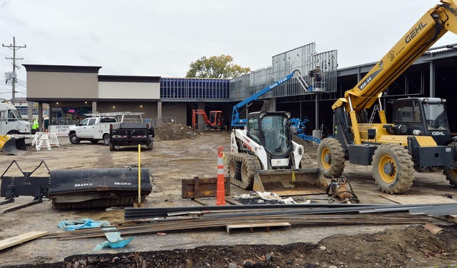 Construction continues on a new-build project at Kearsarge Plaza in Millcreek Township.