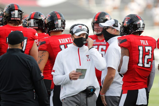 Texas Tech coach Matt Wells and his team have this coming Saturday before closing the season with games Nov. 28 at No. 14 Oklahoma State and Dec. 5 against Kansas. The open date might come at a favorable time. The Red Raiders have had defensive linemen dealing with injuries and on Monday announced eight active COVID-19 cases among players, their highest count since Sept. 2.