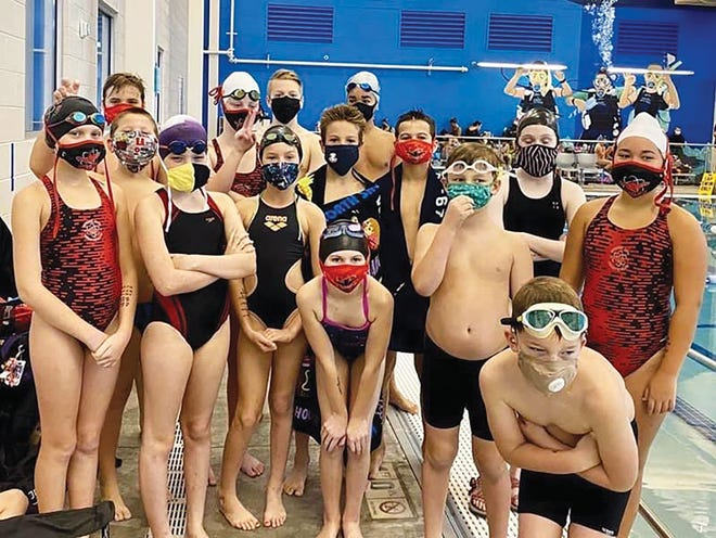 Atomic City Aquatic Club members prepare to compete in the 2020 Pumpkin Patch meet in Kingsport. Special to The Oak Ridger