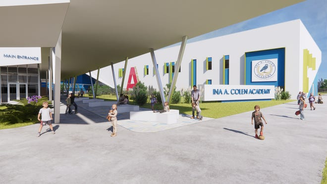 This is an artist's rendering of what the Ina A. Colen Academy will look like. The Colen Family Charitable Trust held a groundbreaking ceremony for the public charter school last week.
