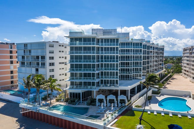 The Corcoran Group is handling sales and marketing efforts for the developer of 3550 South Ocean, a beahfront condominium building with a zig-zag shape to maximize views at 3550 S. Ocean Blvd. in South Palm Beach.