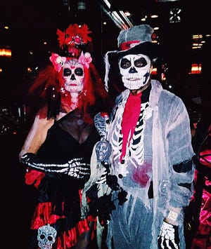 In years past at The Chesterfield's annual Halloween party, some attendees have donned dramatic costumes.
