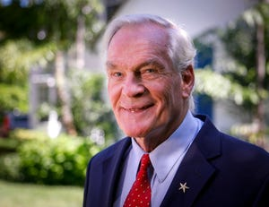 Dr. Michael Dennis at his Palm Beach residence in October.