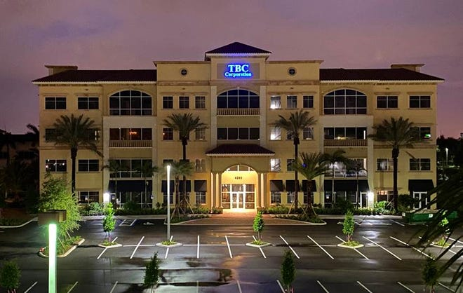 Palm Beach Gardens-based TBC Corp., one of North America's largest marketers of automotive replacement tires and parent company to Tire Kingdom, has moved into a new 61,000-square-foot office building known as TBC South. The new building joins two others on the company's 1.5-acre headquarters.