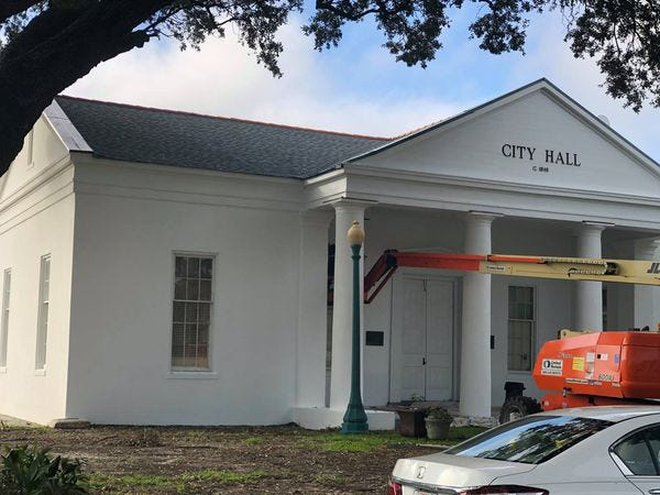 Work is nearing completion on the old Plaquemine City Hall.