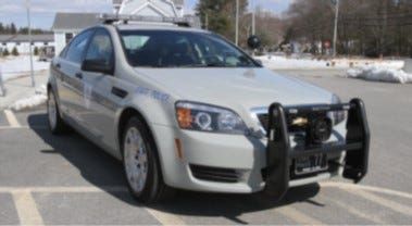 A Rhode Island State police cruiser is shown in this file photo.