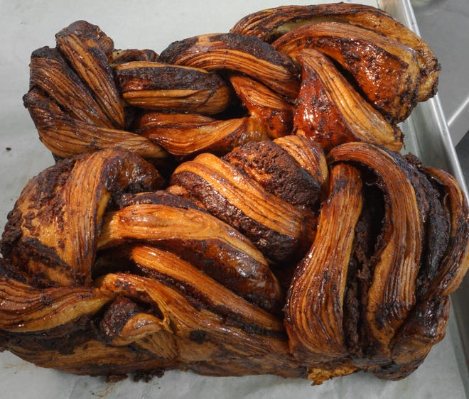 Buns Bakery will be at the Tiverton Farmers Market with treats,  maybe even their chocolate babka.