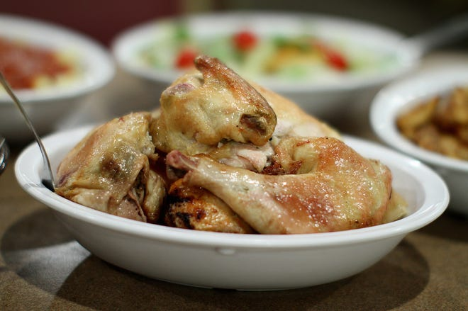 Bowls of roasted chicken will again be on the tables for diners at Wright's Farm Restaurant in Burrillville.