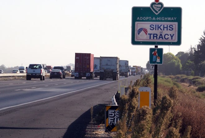 This sign along eastbound Interstate 205 just east of MacArthur Drive in Tracy is similar to other signs along area freeways bringing attention to the long history of Sikh community involvement in the region.