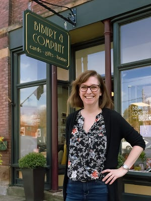 Ann Ellis of Aurora owns Bibury and Company opened May 15. She likes genuine historic vibe in downtown Mantua.