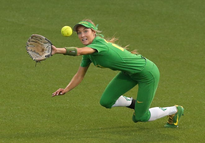 Oregon outfielder Haley Cruse has five doubles in the Ducks' 5-0 star to the season entering Saturday's game at Fresno State.