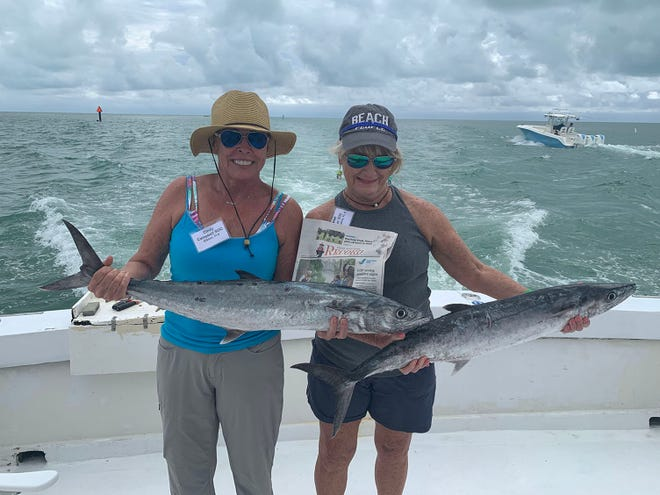 Fishing in Islamorada: Cindy Campbell and Janet Steiner went fishing in Islamorada on the Blue Chip Too. It was a kingfish day with the bonus of a sailfish triple header. What a blast!