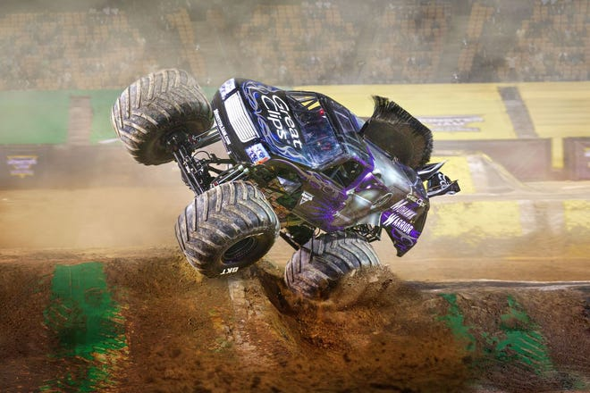 Great Clips Mohawk Warrior competes on the Monster Jam tour, which resumed its live shows Oct. 24-25 at AT&T Stadium in Arlington, Texas.  (Provided / Feld Entertainment)