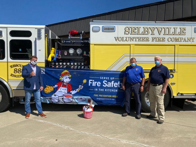 Local State Farm agent Billy Reese, of Selbyville, donated a fire prevention kit to the Selbyville Fire Department for National Fire Prevention Week, Oct. 4-10.