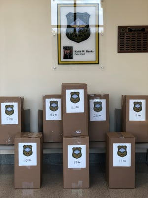 Officers with the Rehoboth Beach Police Department collected 142 pounds of unused, expired and unwanted prescription drugs during the National Drug Take-Back Initiative with the Drug Enforcement Administration.