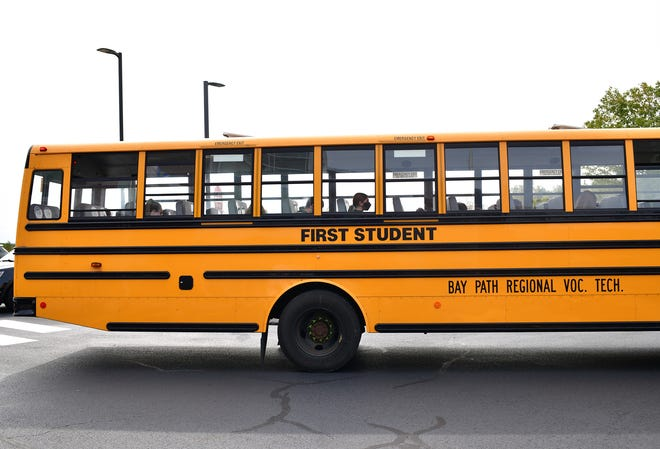 A First Student bus rolls in Charlton last month.