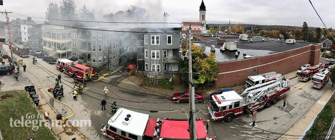 Smoke filled the Pine Street neighborhood in Southbridge.