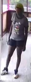 Fayetteville police are requesting the public's help to identify the man seen in this photo firing shots into a day care facility in September. [Fayetteville Police Department photo]