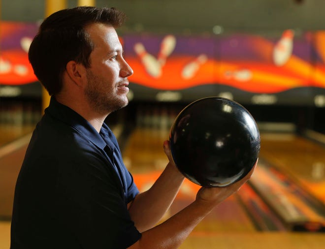Doug Shelby, a competitor in Tuscaloosa's bowling leagues, has bowled several perfect games in league play. COVID caused a suspension for a few months starting in February 2020 before play could resume in late May. A new season has started this fall with league play at both Bowlero Tuscaloosa and Shindig Family Entertainment Center.  [Staff Photo/Gary Cosby Jr.]