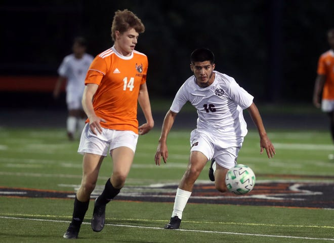 Junior forward Jesus Yanez (right) recorded 14 goals and four assists as Whitehall finished 9-3 to post its first winning season since 2016.