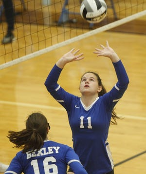 Sophomore setter Madison Lampke led the Bexley girls volleyball team with 314 assists. The Lions finished second in the MSL-Ohio Division for the second year in a row.