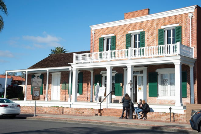 The Whaley House in Old Town San Diego, Calif.